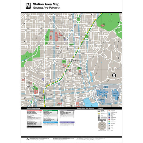 Georgia Ave / Petworth Area Map Print