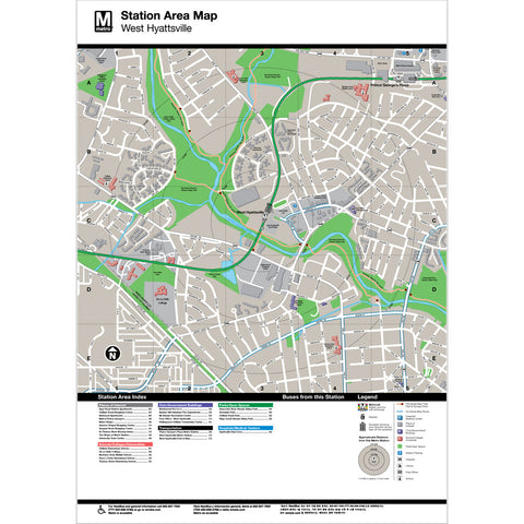 West Hyattsville Area Map Print