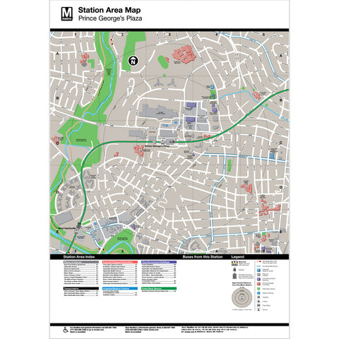 Prince George's Plaza Area Map Print
