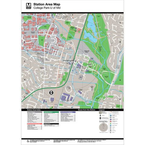 College Park / U of Md Area Map Print