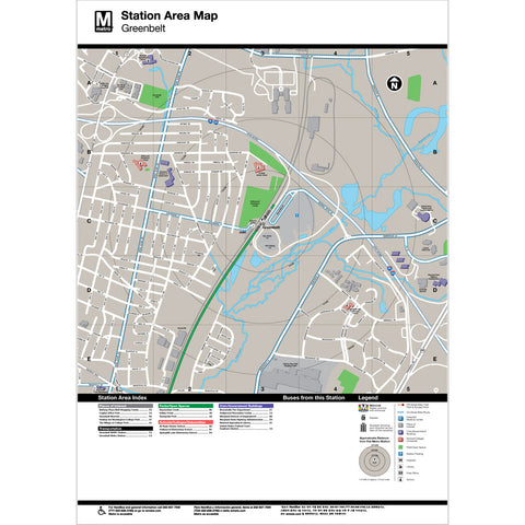 Greenbelt Area Map Print