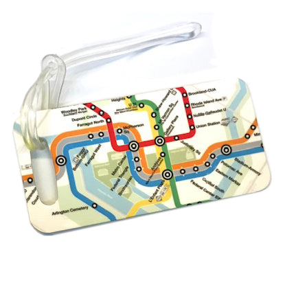 Metro Map Luggage Tag