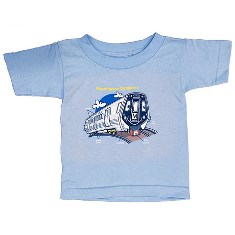 Train Parts (Blue) Youth T-Shirt