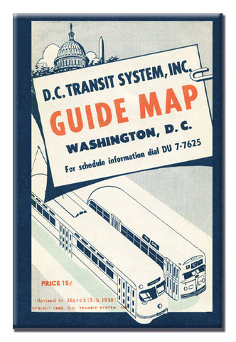DC Transit System Guide Map Magnet