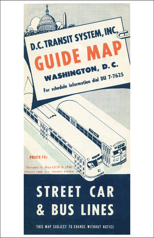 DC Transit System Guide Map Print