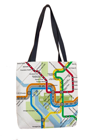 DC Metro System Map  Tote Bag