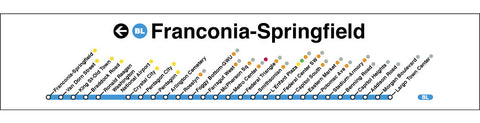 Blue (Franconia-Springfield) Poster