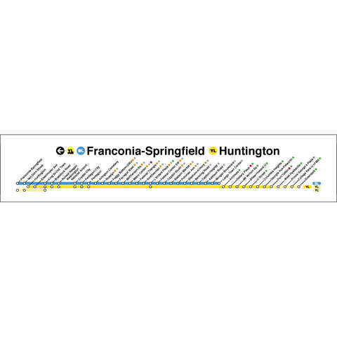Yellow Blue (Fraconia Springfield / Huntington) Poster