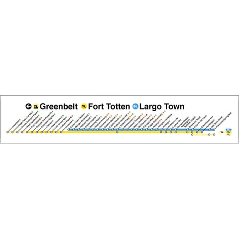 Yellow Blue (Greenbelt / Fort Totten / Largotown) Poster