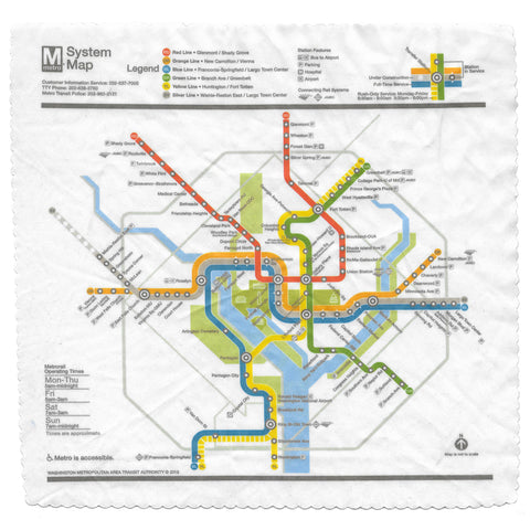 Real Dc Subway Map.Silver Line Map Lens Cloth