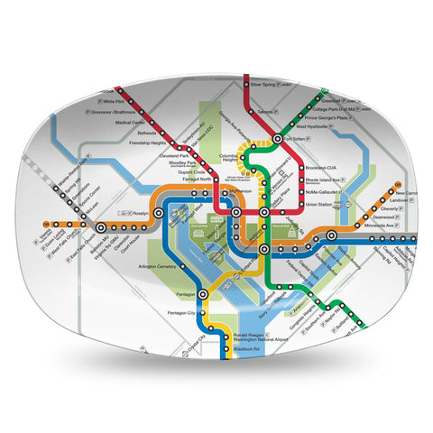 Metro Subway Map Resin Serving Dish