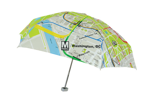 DC Metro System Map Genie Umbrella