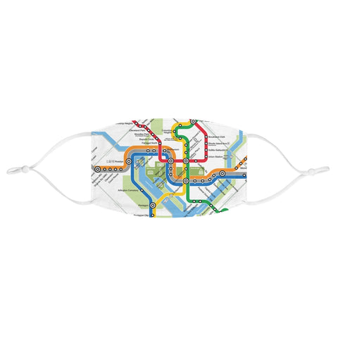 Metro Map Face Mask