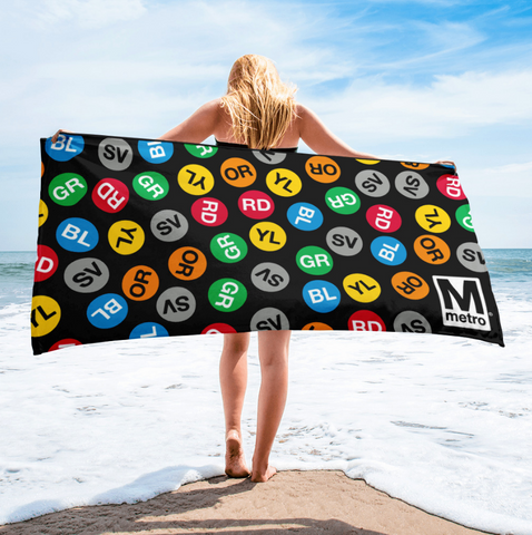 Metro Route Dots Towel