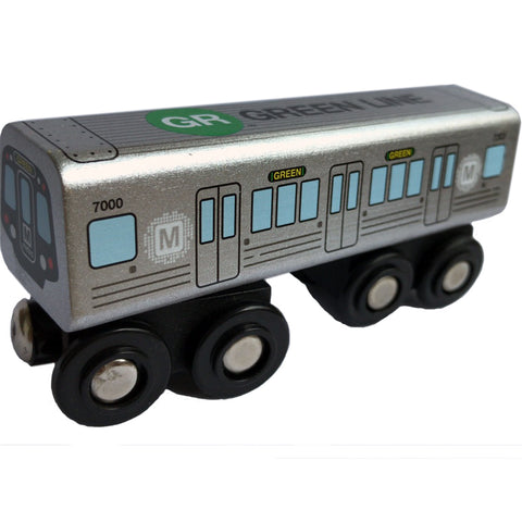 Green Line Wooden Train