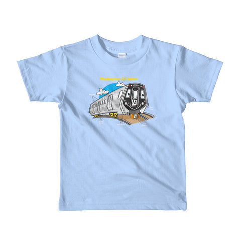 Train Parts Toddler T-Shirt (Blue)