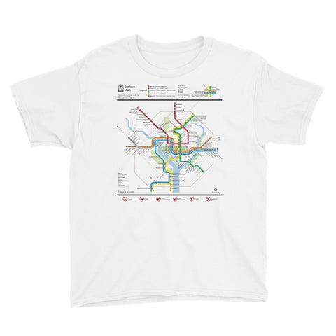DC Metro Map Youth T-Shirt