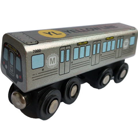 Yellow Line Wooden Train