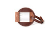 Etikéta Luggage Tag - Dark Brown Leather