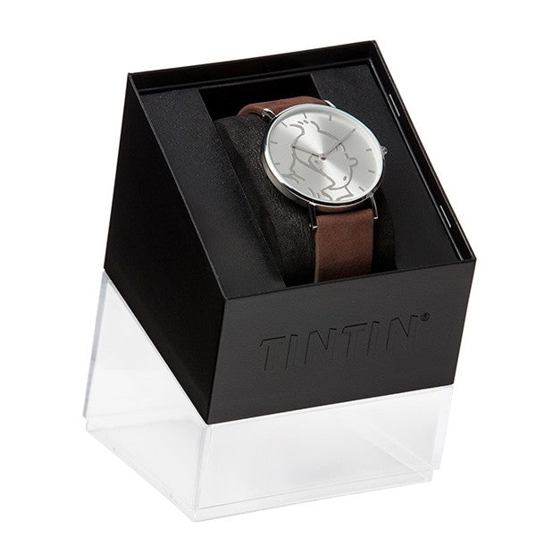 WATCH: Classic - Tintin Silver/Brown S