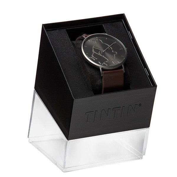 WATCH: Classic - Tintin Black/Brown M