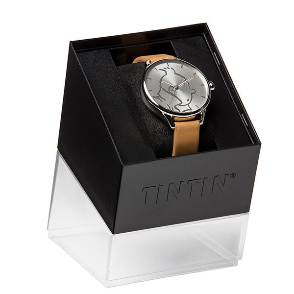 WATCH: Classic - Tintin Silver/Camel M