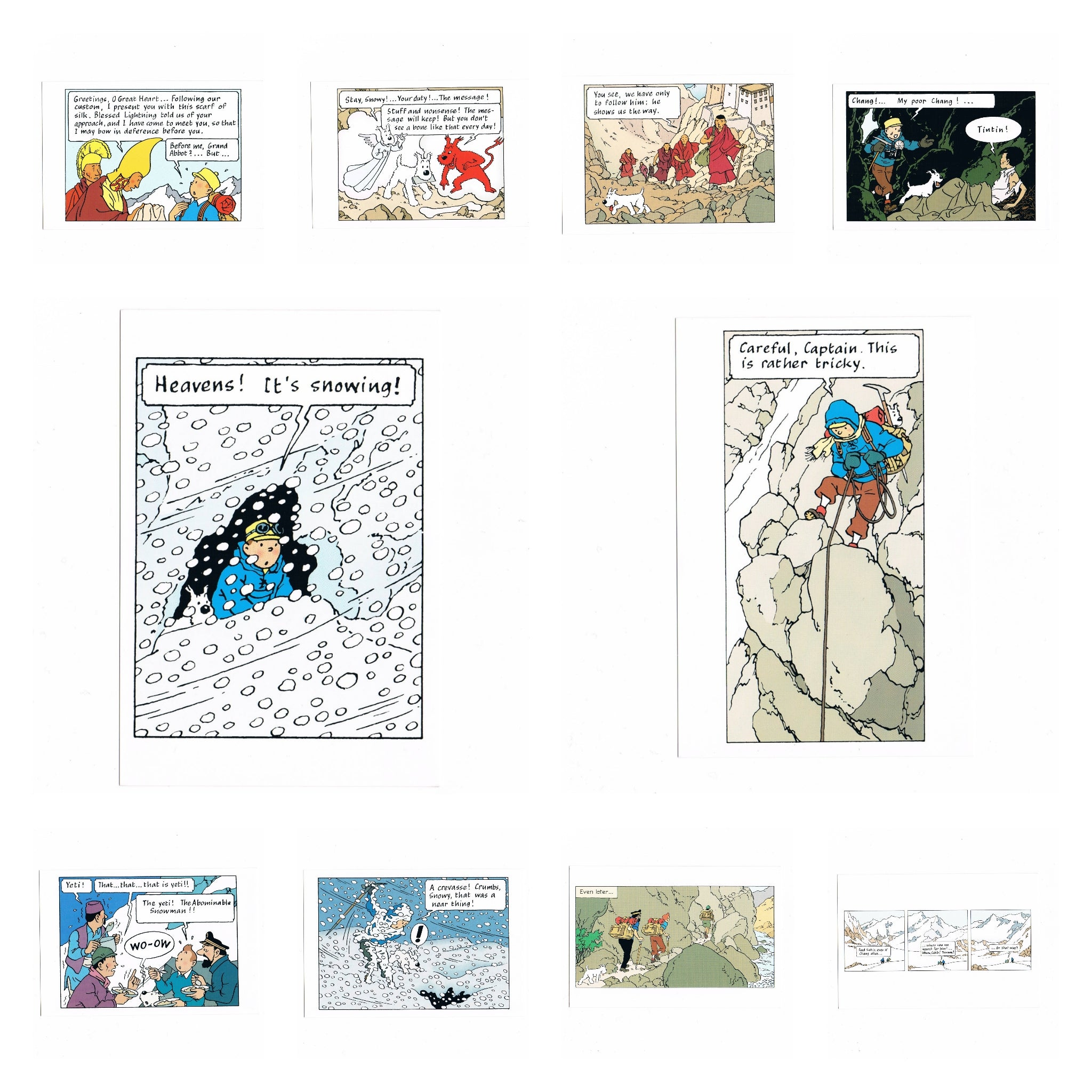 POSTCARD: Tintin in Tibet Pack (English)