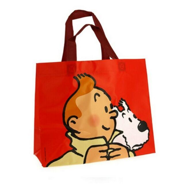 RECYCLED BAG: Tintin & Snowy Red Bag