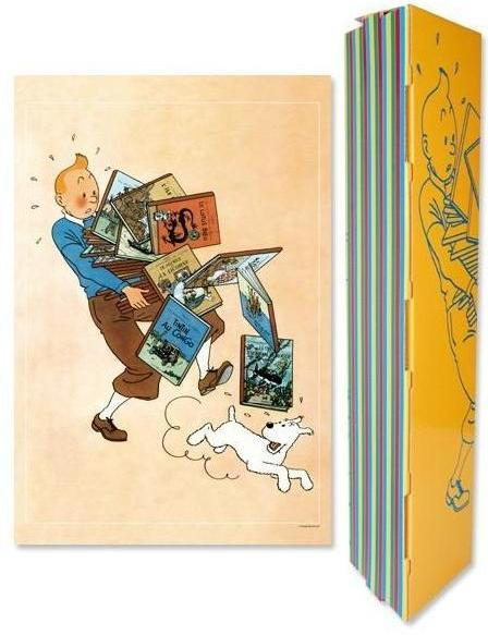 POSTER: Tintin Carrying Albums