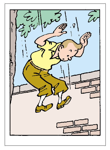 GREETING CARDS: Tintin Jump