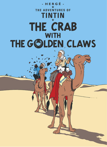 ENGLISH COVER POSTCARD: THE CRAB WITH THE GOLDEN CLAWS