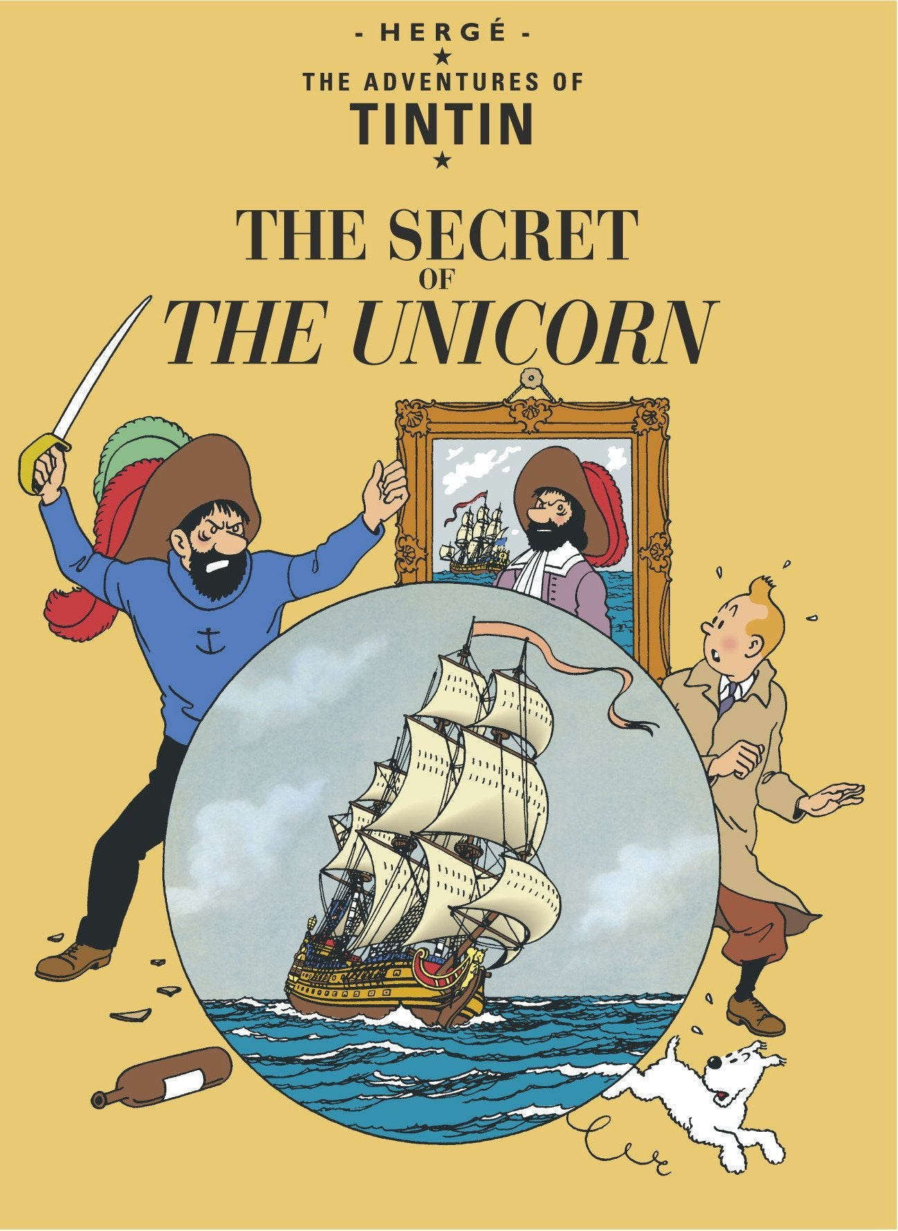ENG COVER POSTCARD: Secret of the Unicorn
