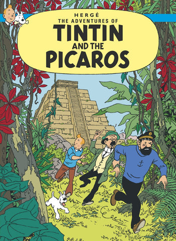 ENGLISH COVER POSTCARD: TINTIN AND THE PICAROS