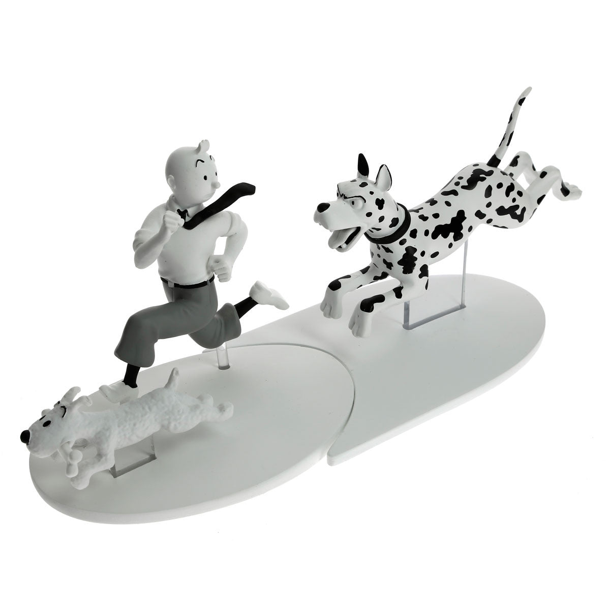 FIGURINE RESINE: B&W - Tintin In The Black Island (Great Dane)