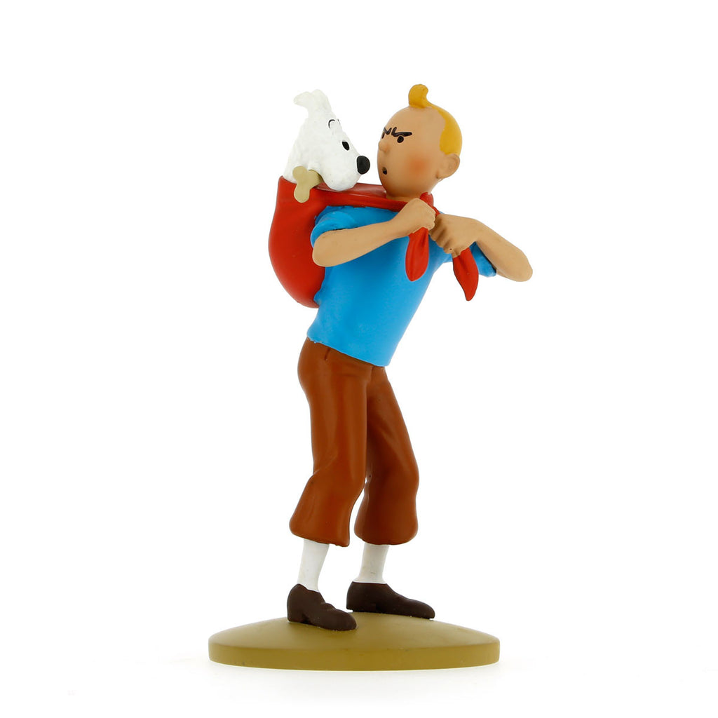 FIGURINE RESIN: Tintin Carries Snowy