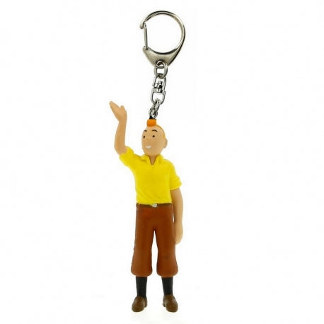 PVC KEYRING: Tintin Welcomes (small)