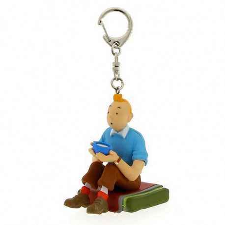 PVC KEYRING: Tintin Seated Tibet (small)