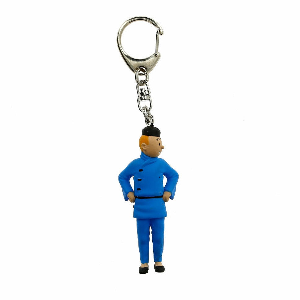 PVC KEYRING: Tintin Blue Lotus (small)