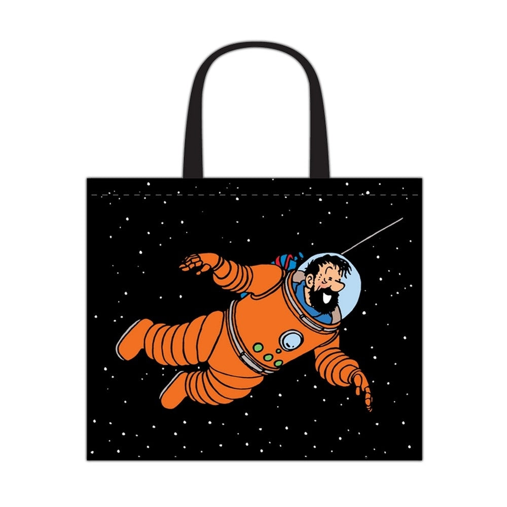 RECYCLED BAG: Tintin Cosmonaut
