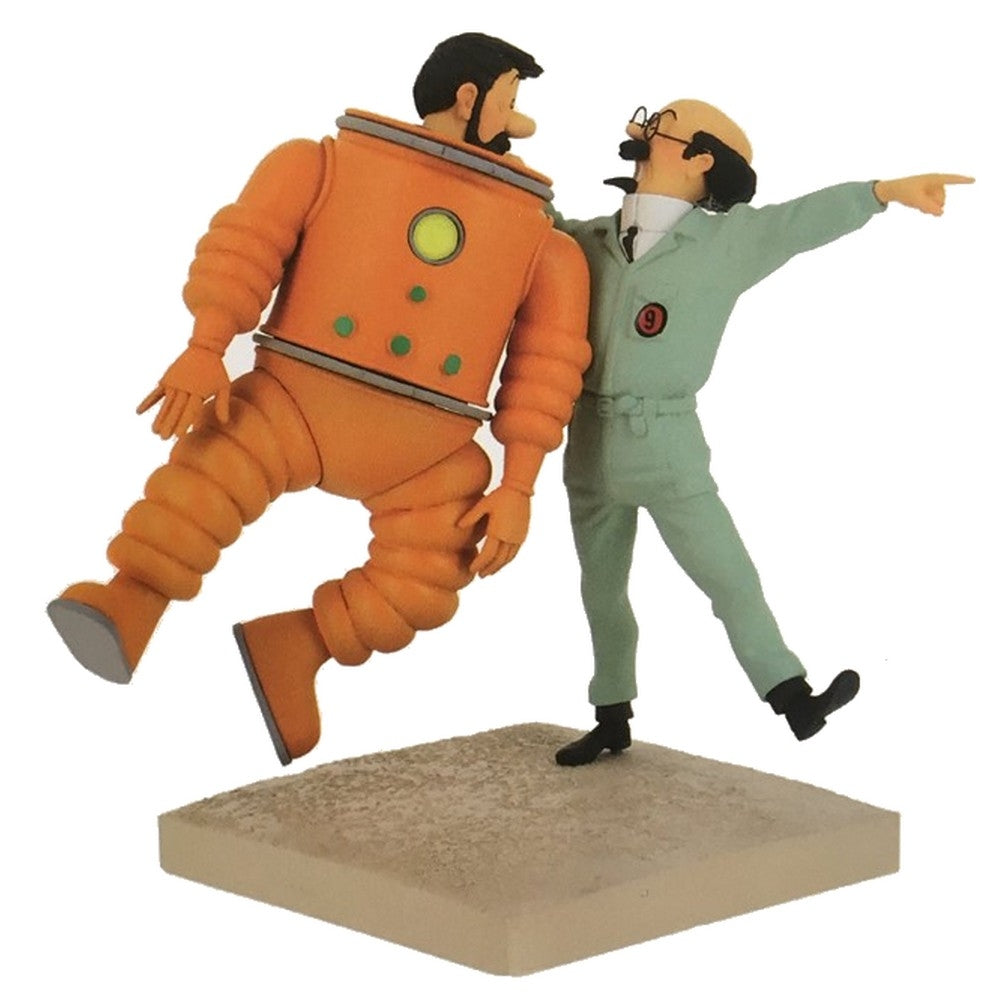 RESIN COLLECTIBLE: Haddock & Calculus in Space