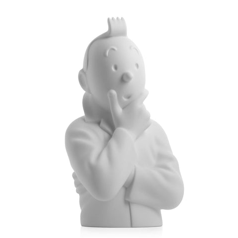 Porcelain Bust: Tintin Think (Matt)