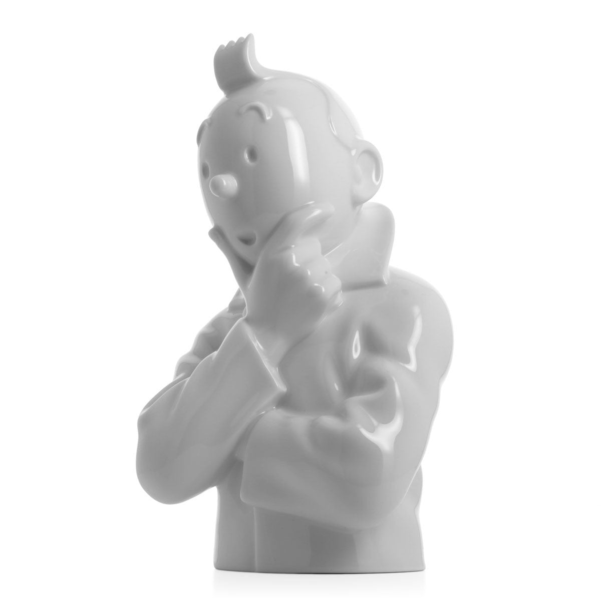 PORCELAIN BUST: Tintin Think (Glossy)