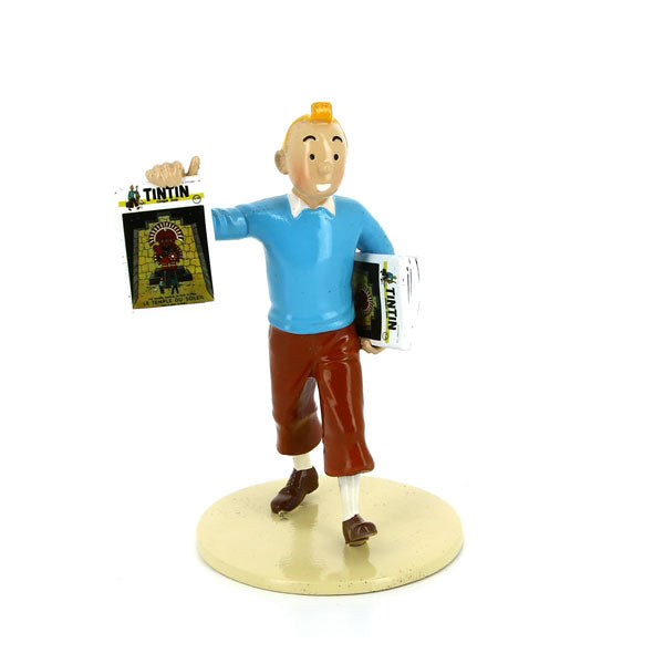 LEAD FIGURINE: Lisez Collection - Tintin + Street Lamp