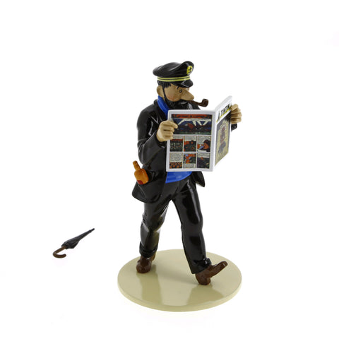 Lead Figurine: Lisez Tintin - Haddock + Umbrella