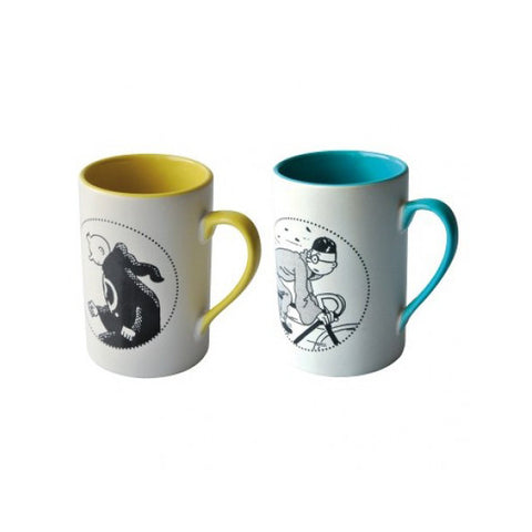 PAIR MUGS: TINTIN TOGE & TINTIN BIKE