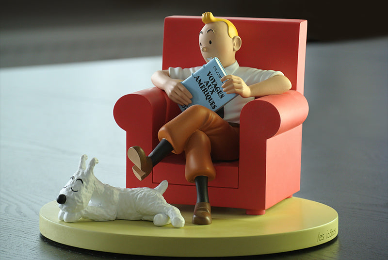 RESIN COLLECTIBLES: ICONS - Tintin Red Armchair