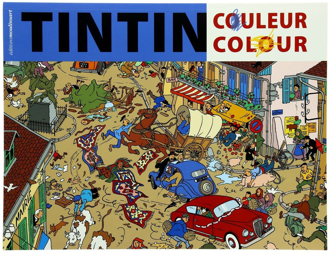 COLOURING BOOK: Tintin 1 (Blue)