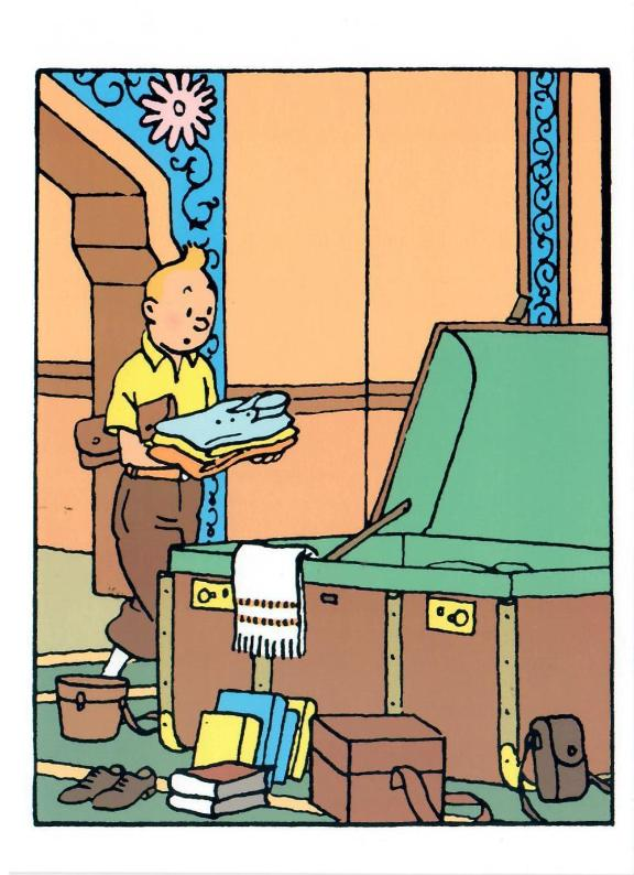 GREETING CARDS: Tintin Suitcase