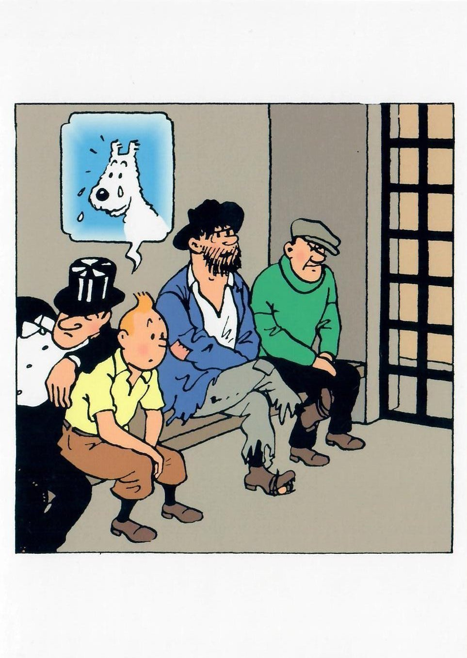GREETING CARDS: Tintin Jail