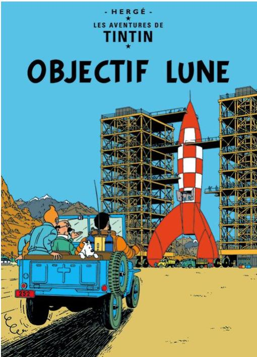 FR COVER POSTCARD: Objectif Lune